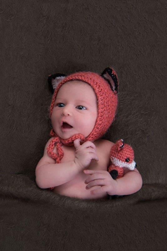 Baby mit Fuchshaube