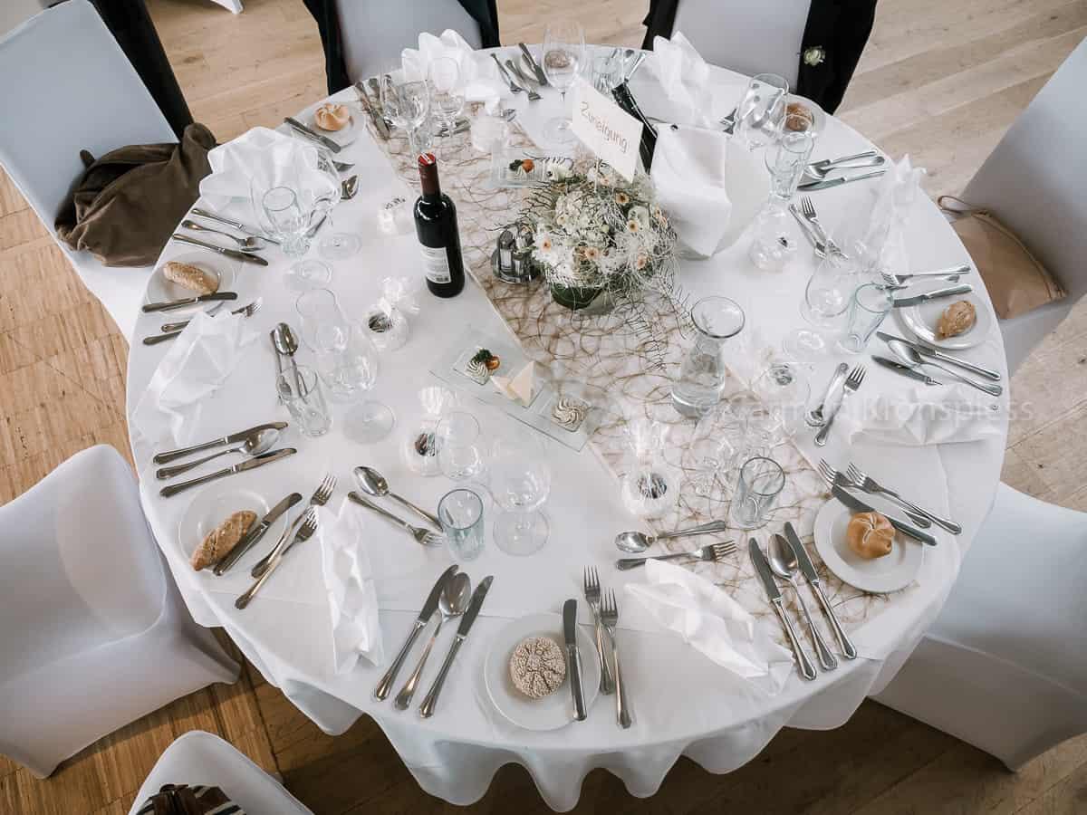 Golfrestaurant Albatros Hochzeitstafel