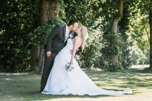 Kuss, Hochzeit im Golfrestaurant Albatros